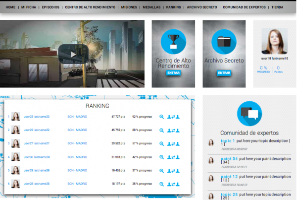 Gamificación y Transmedia Storytelling para formación de maquinistas de tren de todo el mundo