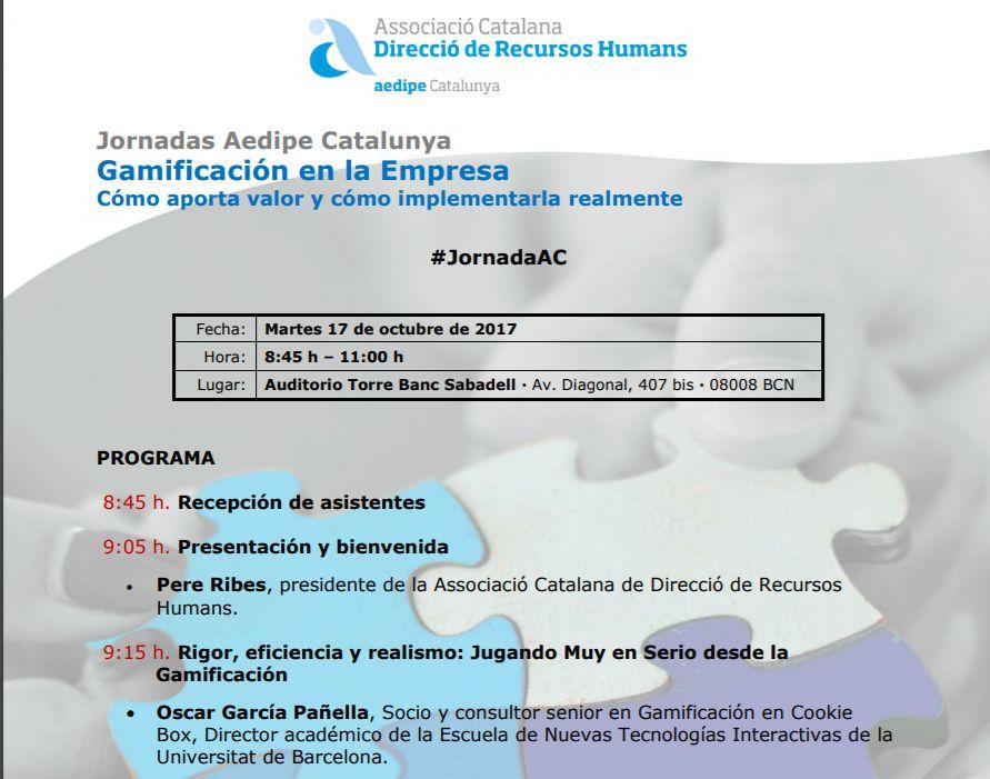 Cookie Box en las Jornadas Aedipe Catalunya (17/10/17)