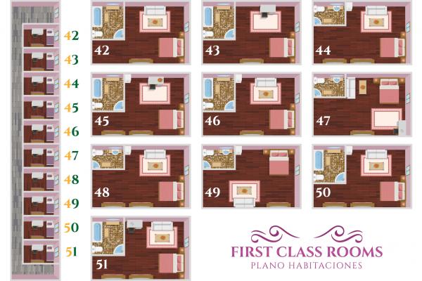 Plano FirstClass Rooms